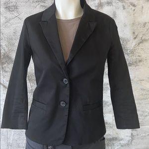 Alfred Sung slightly stretchy black cotton blazer